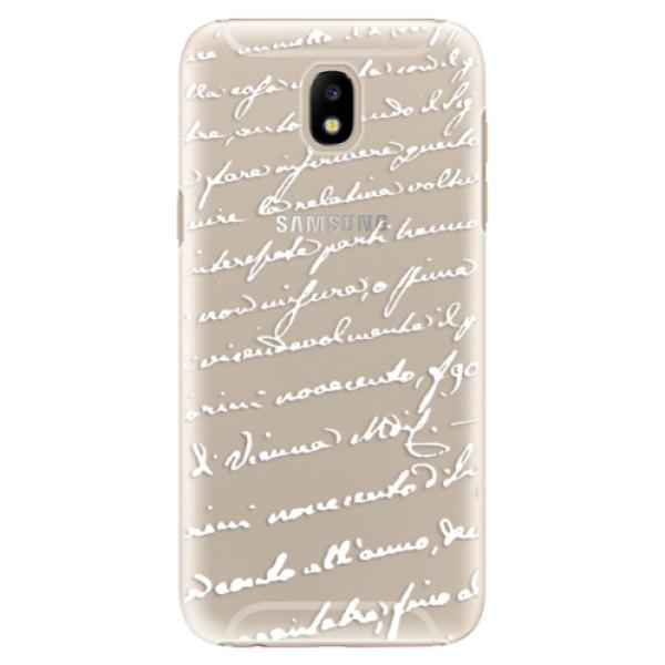 Plastové puzdro iSaprio - Handwriting 01 - white - Samsung Galaxy J5 2017