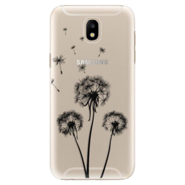 Plastové puzdro iSaprio - Three Dandelions - black - Samsung Galaxy J5 2017