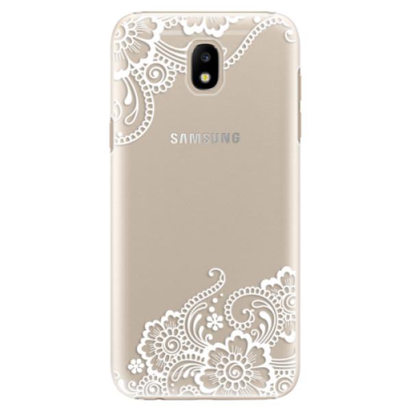 Plastové puzdro iSaprio - White Lace 02 - Samsung Galaxy J5 2017