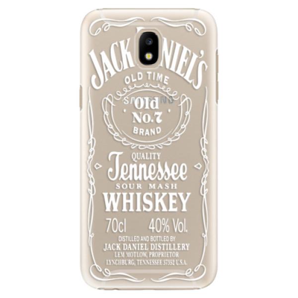 Plastové puzdro iSaprio - Transparent White Jack - Samsung Galaxy J5 2017