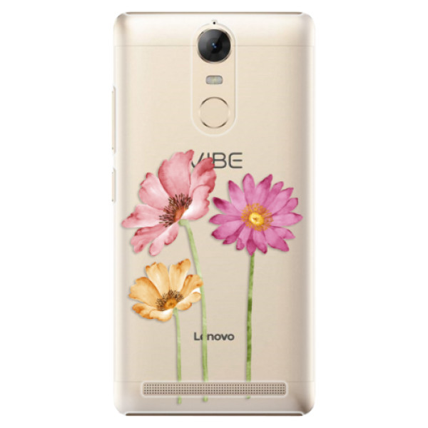 Plastové puzdro iSaprio - Three Flowers - Lenovo K5 Note
