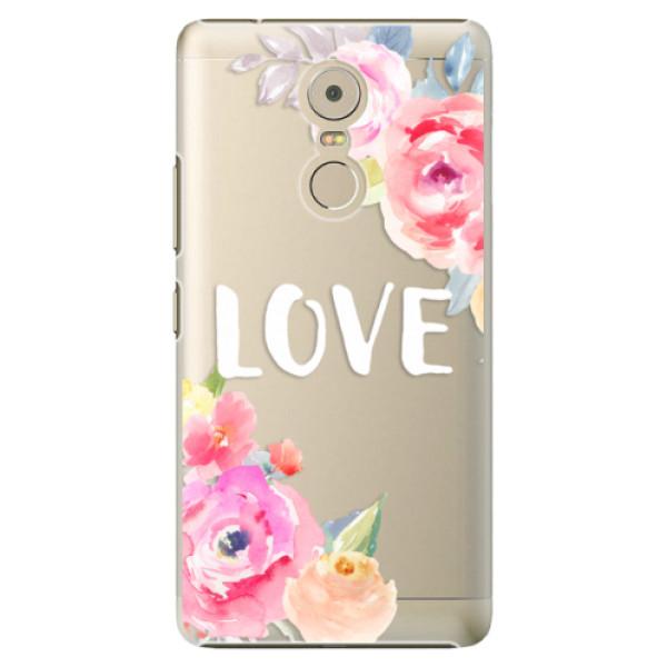 Plastové puzdro iSaprio - Love - Lenovo K6 Note