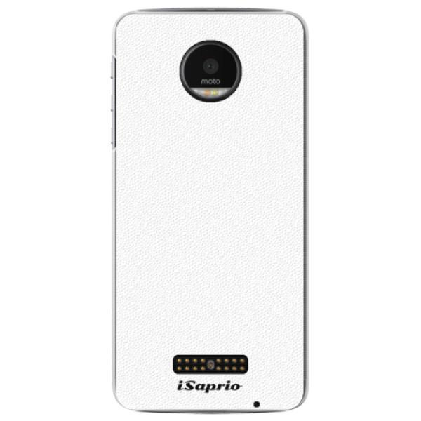 Plastové puzdro iSaprio - 4Pure - bílý - Lenovo Moto Z