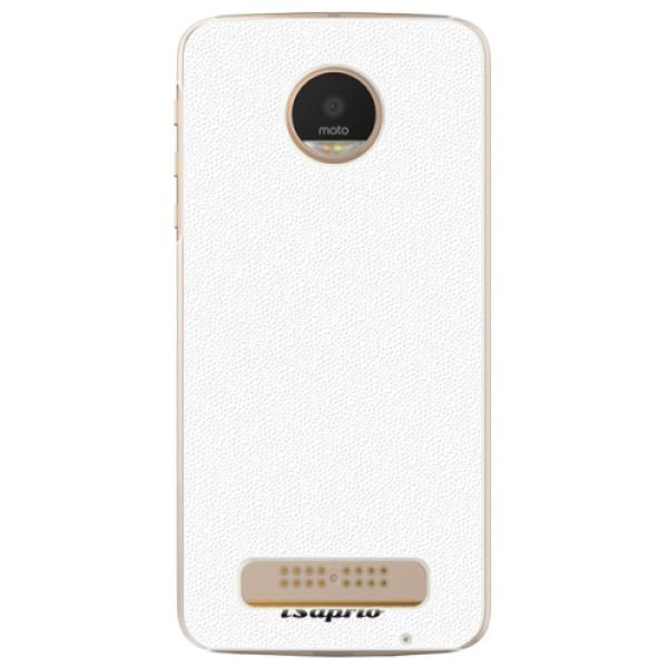 Plastové puzdro iSaprio - 4Pure - bílý - Lenovo Moto Z Play