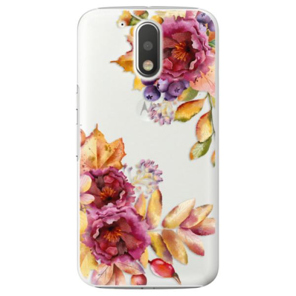 Plastové puzdro iSaprio - Fall Flowers - Lenovo Moto G4 / G4 Plus