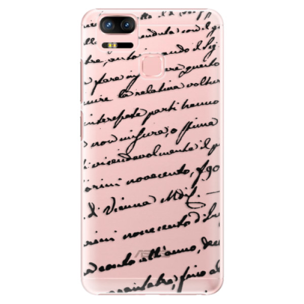Plastové puzdro iSaprio - Handwriting 01 - black - Asus Zenfone 3 Zoom ZE553KL