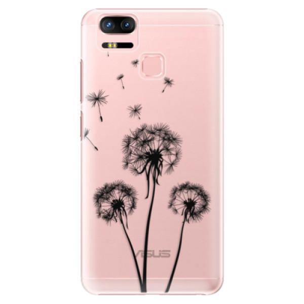 Plastové puzdro iSaprio - Three Dandelions - black - Asus Zenfone 3 Zoom ZE553KL