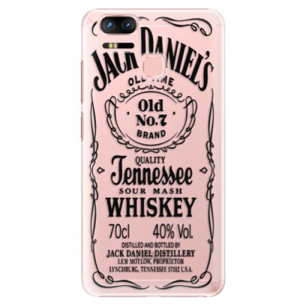 Plastové puzdro iSaprio - Transparent Black Jack - Asus Zenfone 3 Zoom ZE553KL