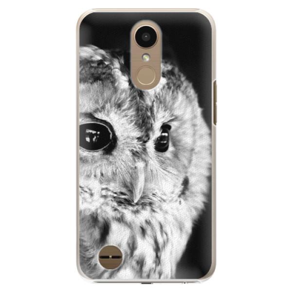 Plastové puzdro iSaprio - BW Owl - LG K10 2017