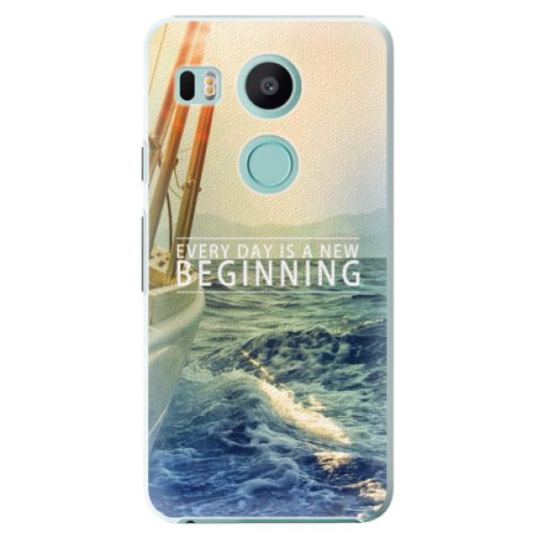 Plastové puzdro iSaprio - Beginning - LG Nexus 5X