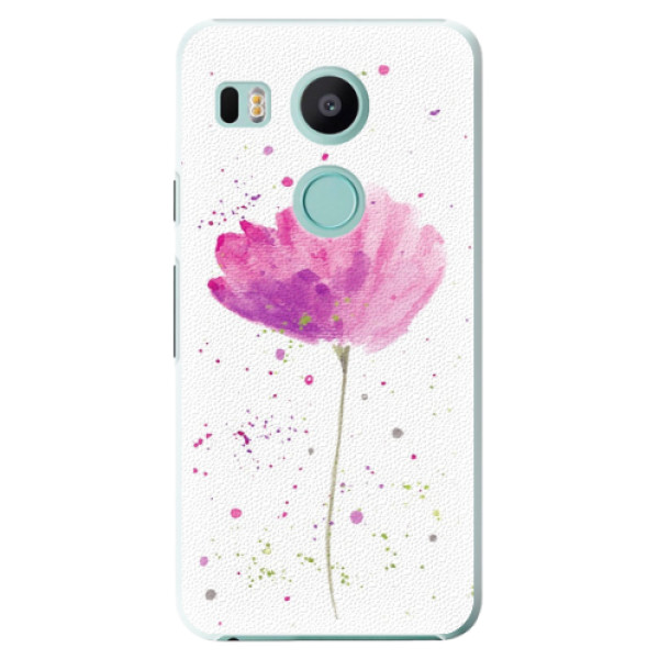 Plastové puzdro iSaprio - Poppies - LG Nexus 5X
