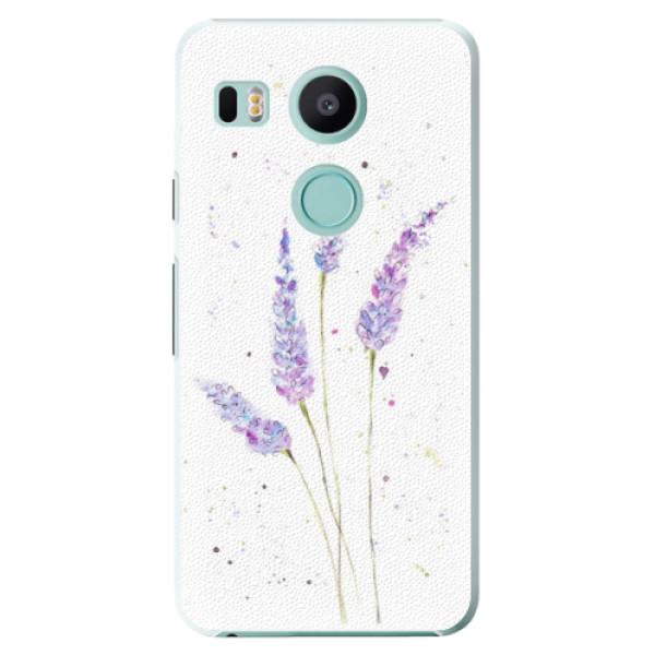 Plastové puzdro iSaprio - Lavender - LG Nexus 5X
