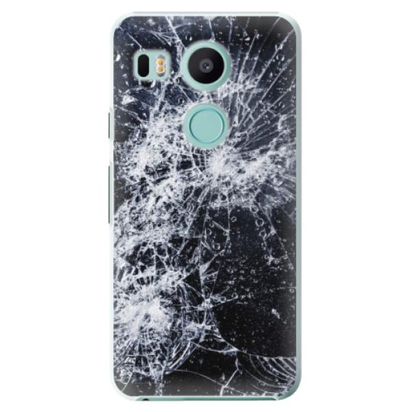 Plastové puzdro iSaprio - Cracked - LG Nexus 5X