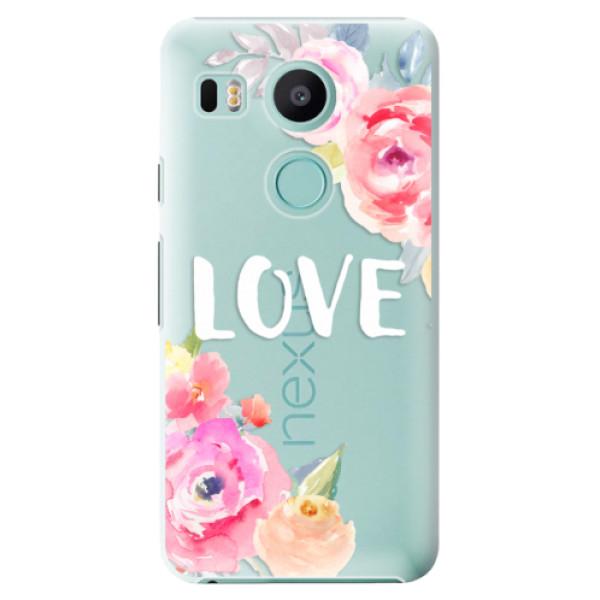 Plastové puzdro iSaprio - Love - LG Nexus 5X