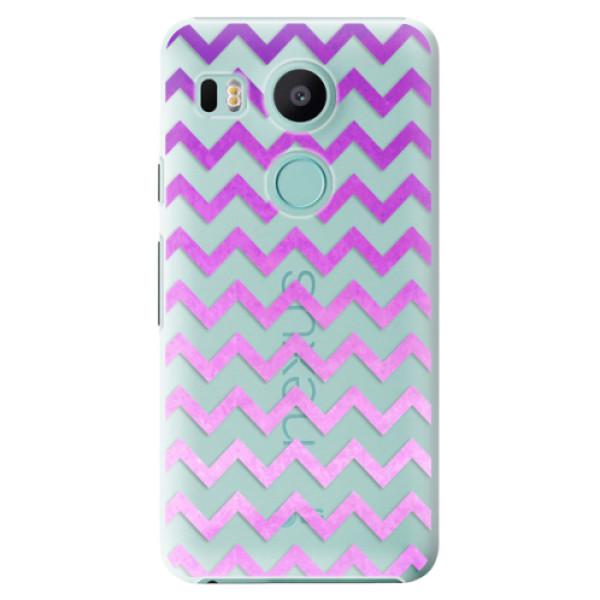 Plastové puzdro iSaprio - Zigzag - purple - LG Nexus 5X