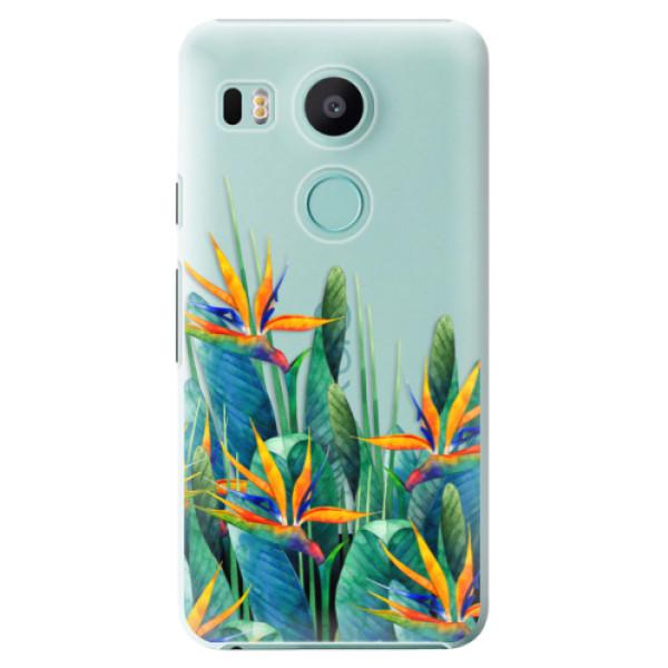 Plastové puzdro iSaprio - Exotic Flowers - LG Nexus 5X