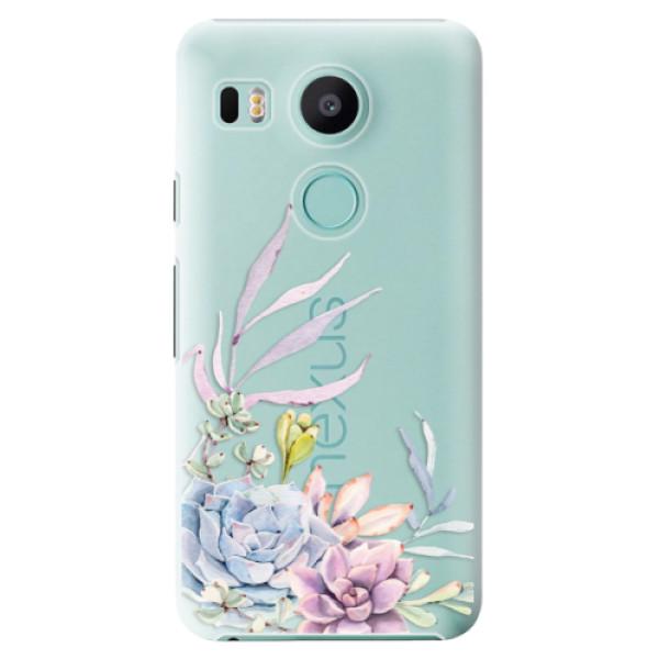 Plastové puzdro iSaprio - Succulent 01 - LG Nexus 5X