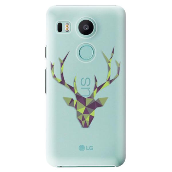Plastové puzdro iSaprio - Deer Green - LG Nexus 5X