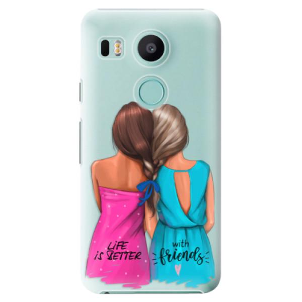 Plastové puzdro iSaprio - Best Friends - LG Nexus 5X