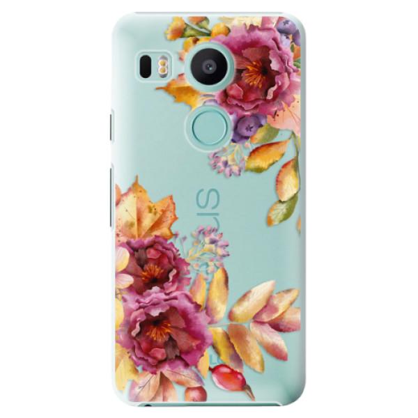 Plastové puzdro iSaprio - Fall Flowers - LG Nexus 5X