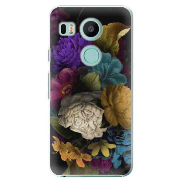 Plastové puzdro iSaprio - Dark Flowers - LG Nexus 5X
