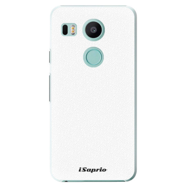 Plastové puzdro iSaprio - 4Pure - bílý - LG Nexus 5X