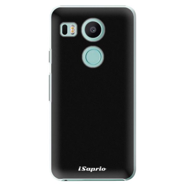Plastové puzdro iSaprio - 4Pure - černý - LG Nexus 5X