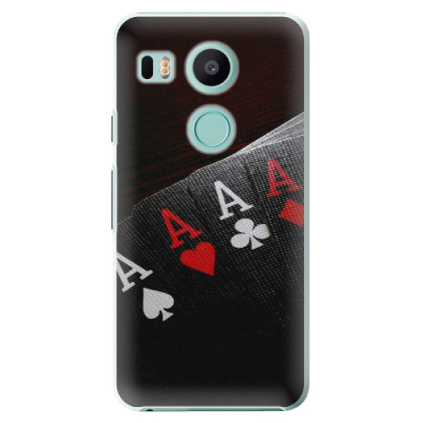 Plastové puzdro iSaprio - Poker - LG Nexus 5X