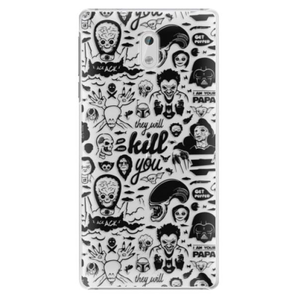 Plastové puzdro iSaprio - Comics 01 - black - Nokia 3