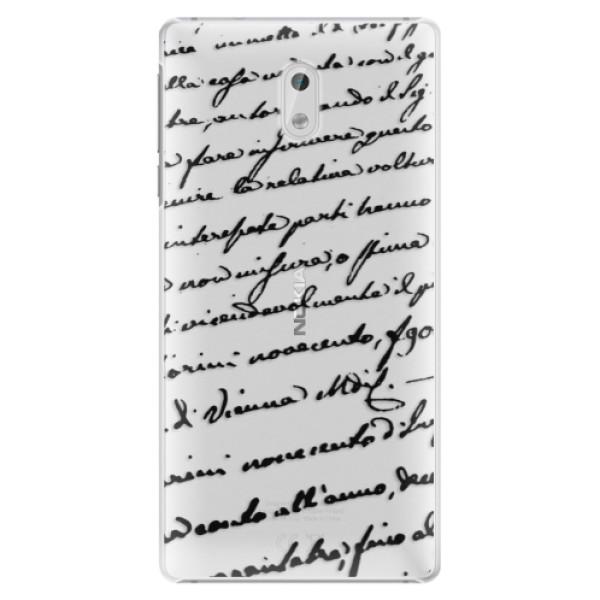 Plastové puzdro iSaprio - Handwriting 01 - black - Nokia 3