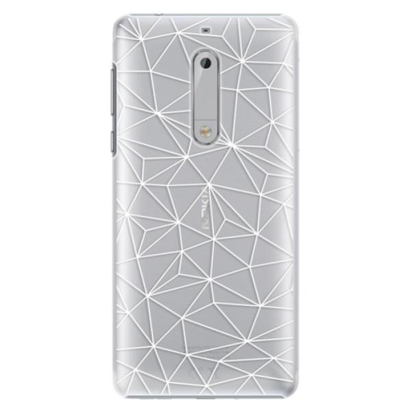 Plastové puzdro iSaprio - Abstract Triangles 03 - white - Nokia 5