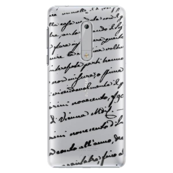 Plastové puzdro iSaprio - Handwriting 01 - black - Nokia 5
