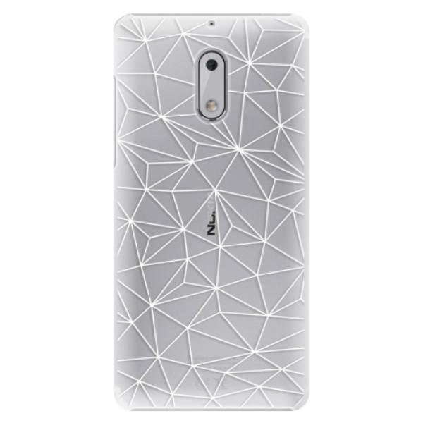 Plastové puzdro iSaprio - Abstract Triangles 03 - white - Nokia 6