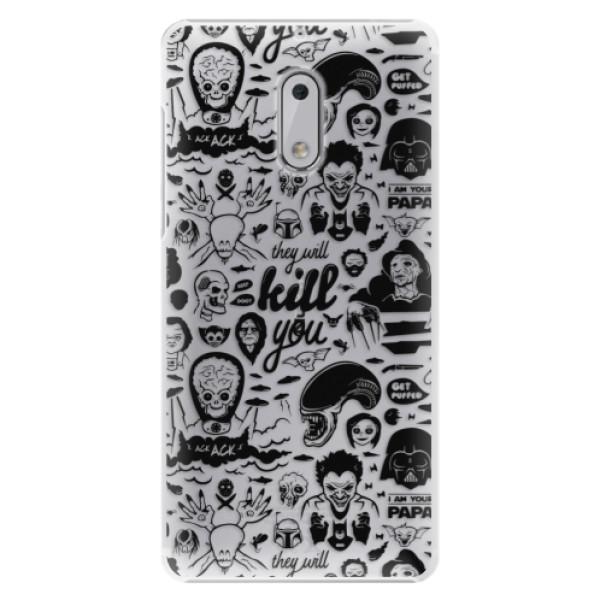 Plastové puzdro iSaprio - Comics 01 - black - Nokia 6