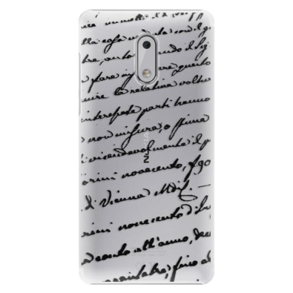 Plastové puzdro iSaprio - Handwriting 01 - black - Nokia 6