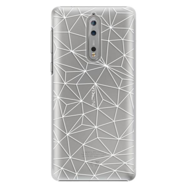 Plastové puzdro iSaprio - Abstract Triangles 03 - white - Nokia 8