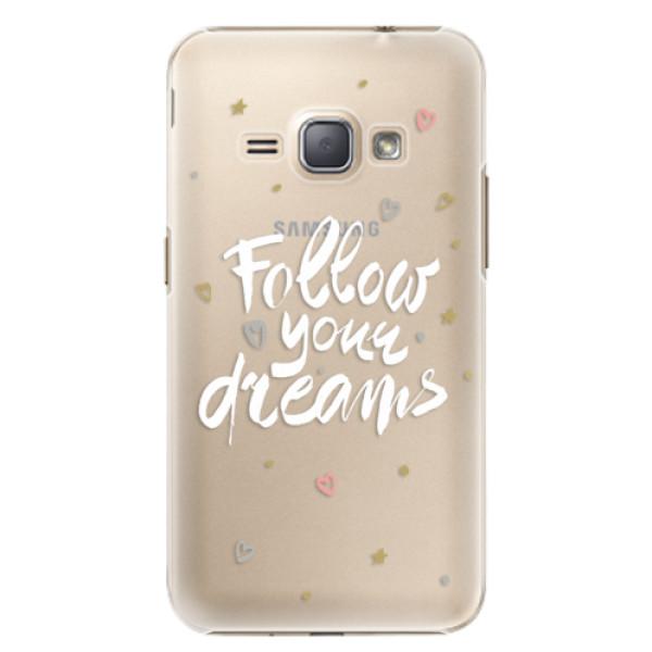 Plastové puzdro iSaprio - Follow Your Dreams - white - Samsung Galaxy J1 2016