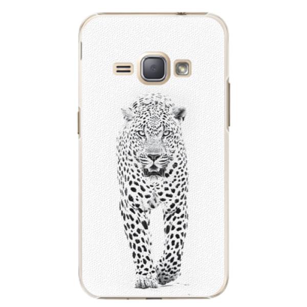 Plastové puzdro iSaprio - White Jaguar - Samsung Galaxy J1 2016