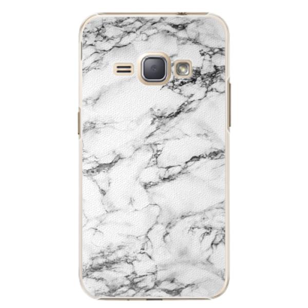Plastové puzdro iSaprio - White Marble 01 - Samsung Galaxy J1 2016