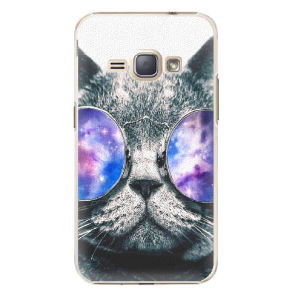 Plastové puzdro iSaprio - Galaxy Cat - Samsung Galaxy J1 2016