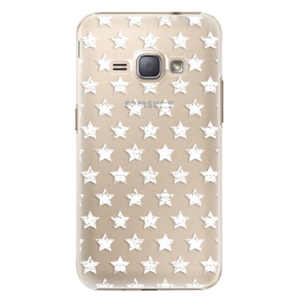 Plastové puzdro iSaprio - Stars Pattern - white - Samsung Galaxy J1 2016