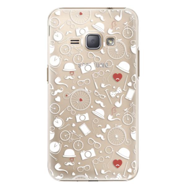 Plastové puzdro iSaprio - Vintage Pattern 01 - white - Samsung Galaxy J1 2016