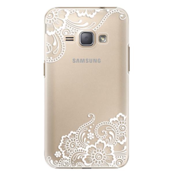 Plastové puzdro iSaprio - White Lace 02 - Samsung Galaxy J1 2016