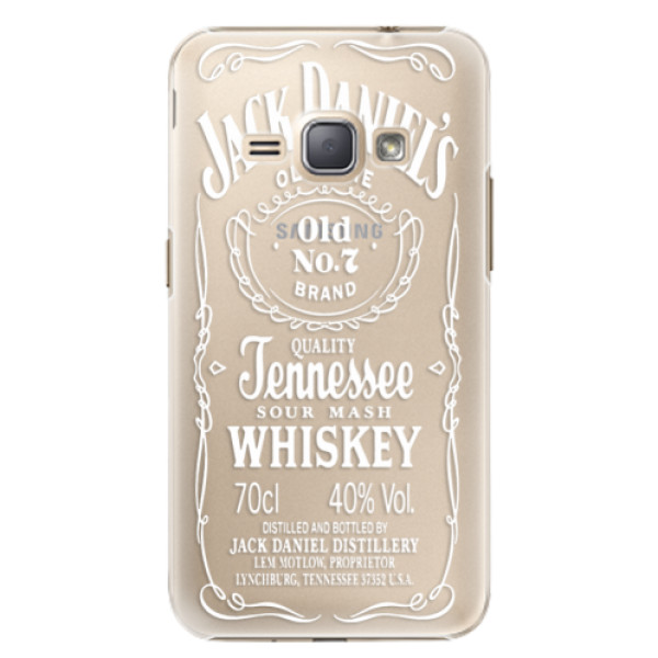 Plastové puzdro iSaprio - Transparent White Jack - Samsung Galaxy J1 2016