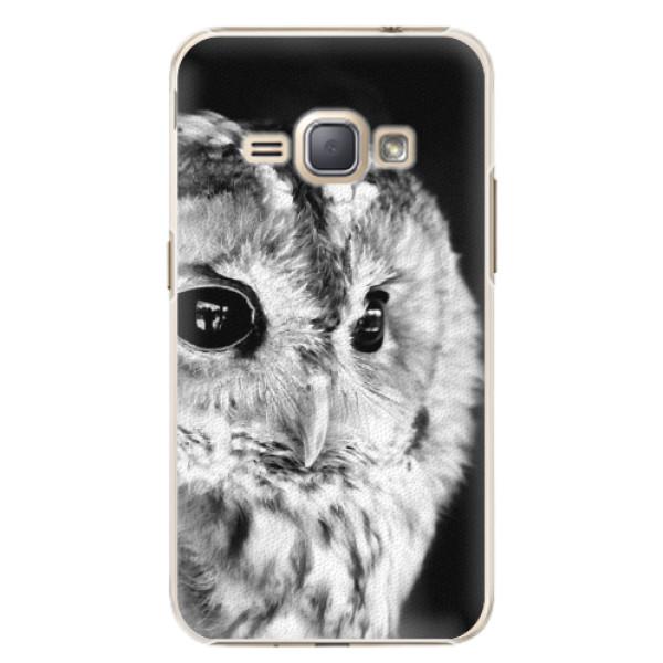 Plastové puzdro iSaprio - BW Owl - Samsung Galaxy J1 2016