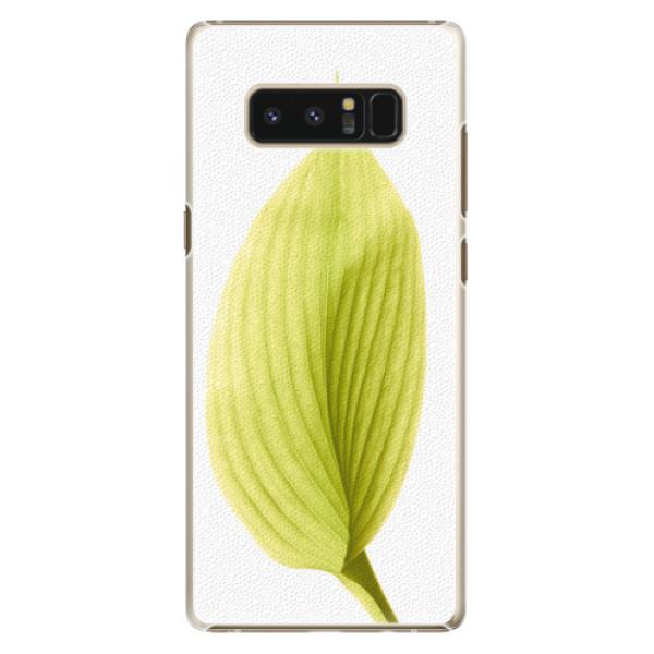 Plastové puzdro iSaprio - Green Leaf - Samsung Galaxy Note 8