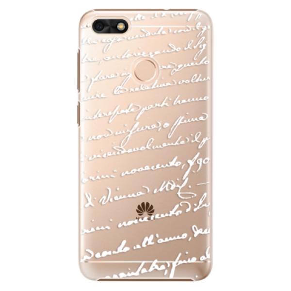 Plastové puzdro iSaprio - Handwriting 01 - white - Huawei P9 Lite Mini