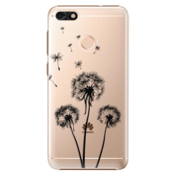 Plastové puzdro iSaprio - Three Dandelions - black - Huawei P9 Lite Mini