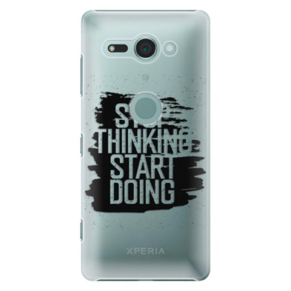 Plastové puzdro iSaprio - Start Doing - black - Sony Xperia XZ2 Compact