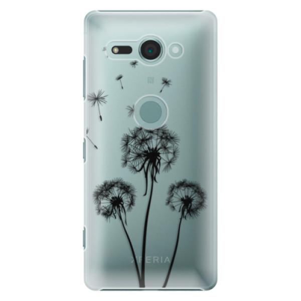 Plastové puzdro iSaprio - Three Dandelions - black - Sony Xperia XZ2 Compact